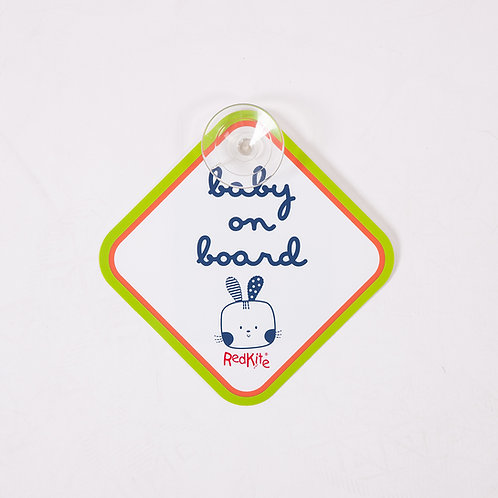 Baby On Board Cotton Tail Stick On Sign