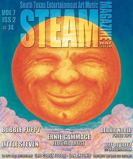 Cover Steam Magazine with article about Ernie's art.