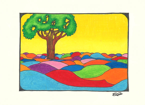 Pobble Land - Giclée Print on Canvas