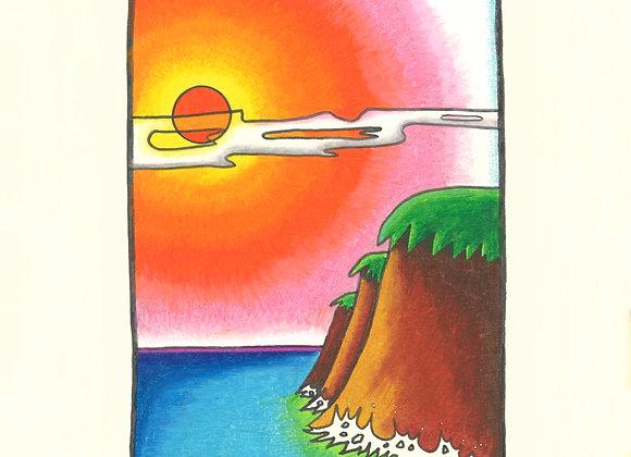 Tropical Coast - Giclée Print on Canvas