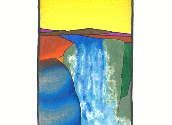 African Falls - Giclée Print on Canvas