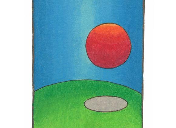Roundish - Giclée Print on Canvas.