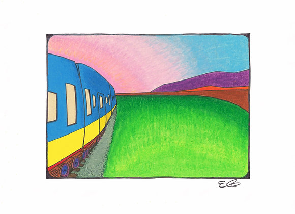 Train To Beckonsfield - Giclée Print on Canvas