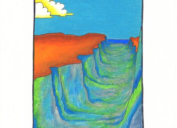 Blue Arroyo - Giclée Print on Canvas