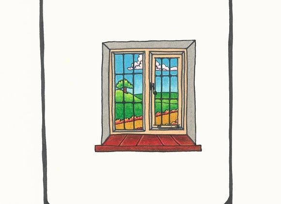 Garden Window - Giclée Print on Canvas