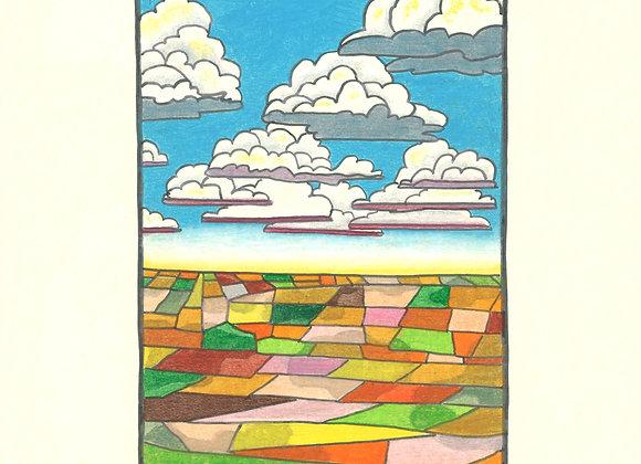 Fields Afar - Giclée Print on Canvas