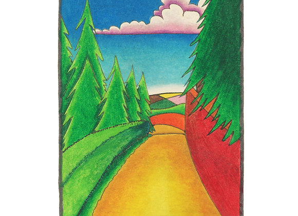 Tilehouse Lane - Giclée print on canvas