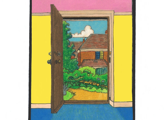 Out The Cottage Door - Giclée Print on Canvas