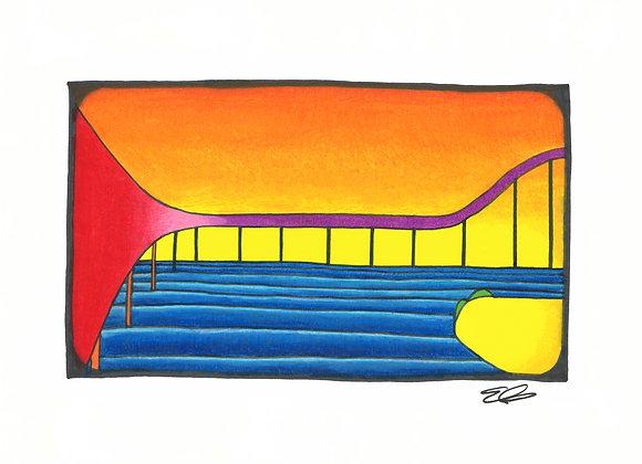 Flyover - Giclée Print on Canvas