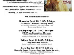 Americanafest in Nashville- AKS schedule