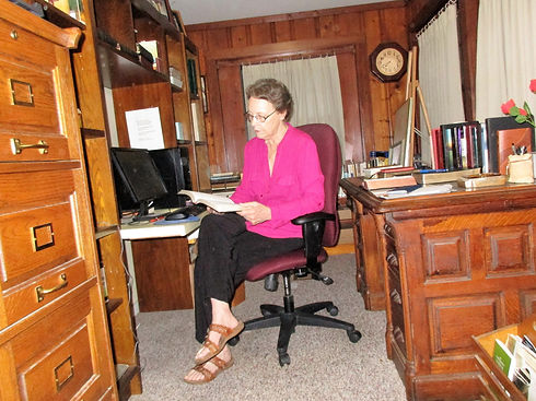 Mary in her office.JPG