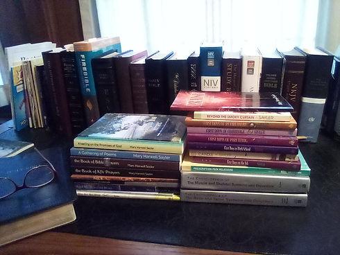 Mary's books on desk.jpg