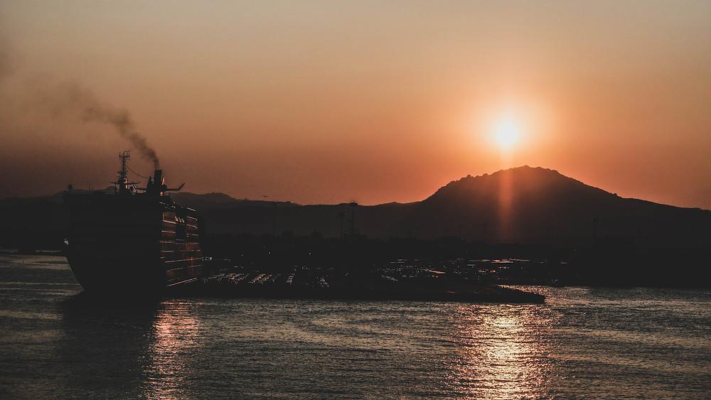 Port d'Olbia au couché du soleil - Céline Descroix