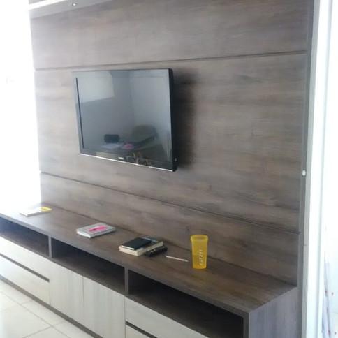Painel para TV com rack