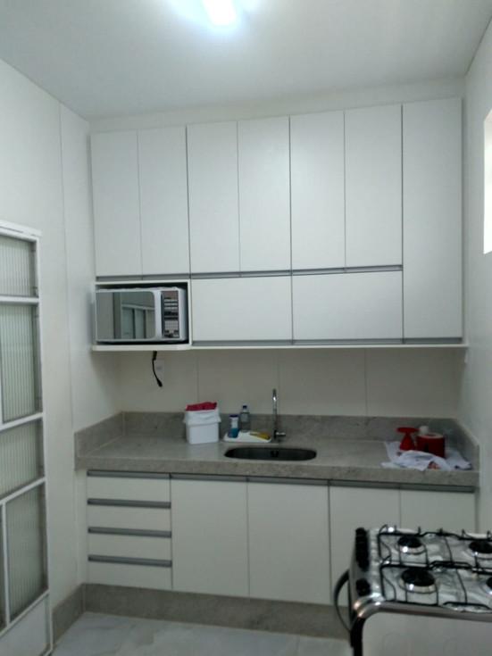 Cozinha em MDF BrancoServiço entregue no bairro Sion, Belo Horizonte