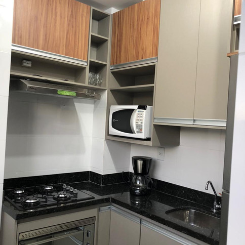 Cozinha em MDF Gianduia com Amendola Rustica