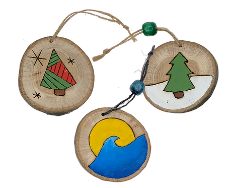 Wood Ornaments ($5.00 each)