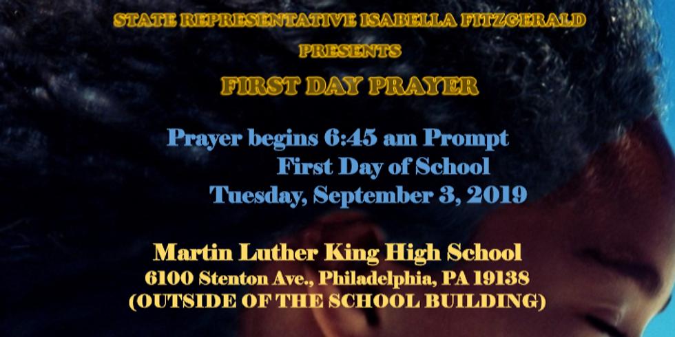 First Day of School Prayer at King High School