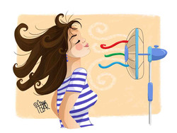 La chica del ventilador