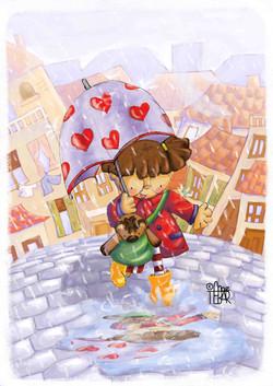 Maty bajo la lluvia