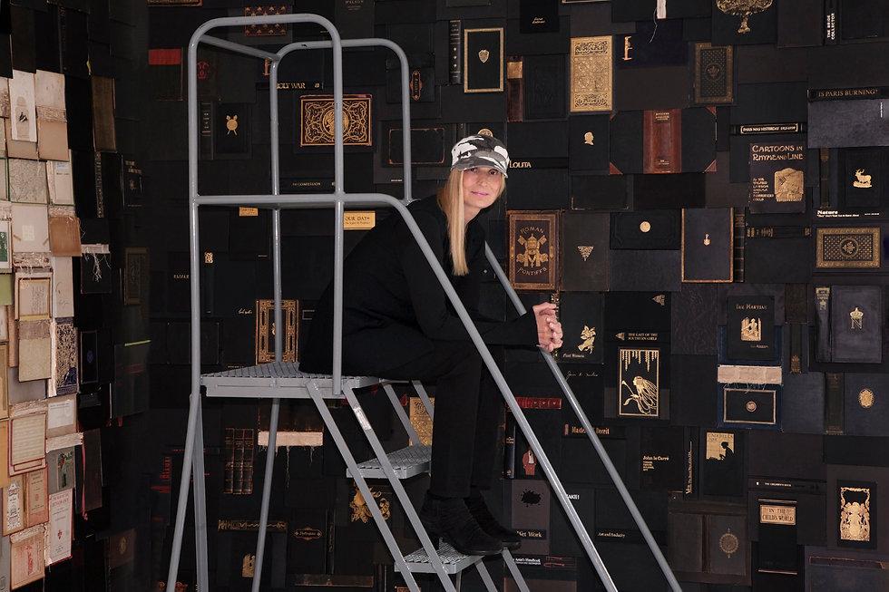 Nancy Gifford Lament book art installation