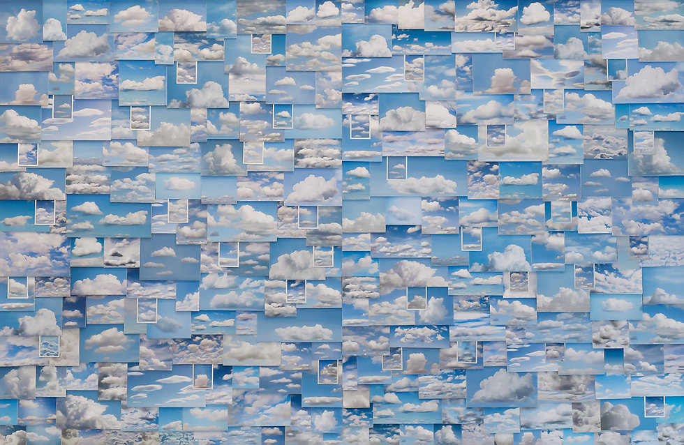 Nancy Gifford Art, Environmental Art, Mixed Media, Clouds