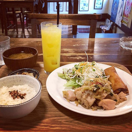 Lunch at cafe
