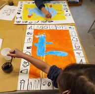 vacances de la Toussaint 2020 atelier gravure et peinture autour de l'oeuvre de P. Alechinsky