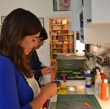 atelier familial découverte de la gravure sur gomme