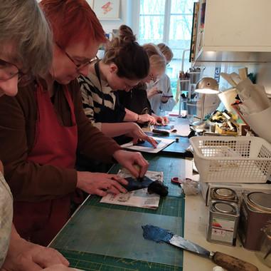 atelier de gravure à Samer