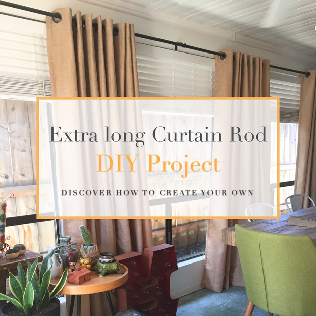 extra long curtain rod diy project