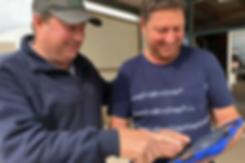 Kangaroo Island oyster farmer Ken Rowe demonstrates the new miShell Oyster Stock Management app