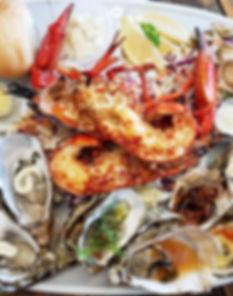 The Oyster Farm Shop Share Platter or Aquaplatter