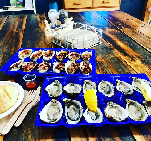 Fresh and grilled Kangaroo Island Oysters at The Oyster Farm Shop