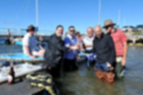 Chef George Calombaris at Kangaroo Island Shellfish Feastival event