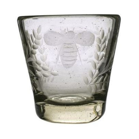 Bee Etched Glass Tumbler