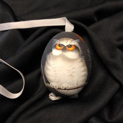 White Owl Halloween Egg