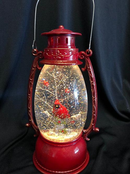 Cardinal Lantern Water Globe