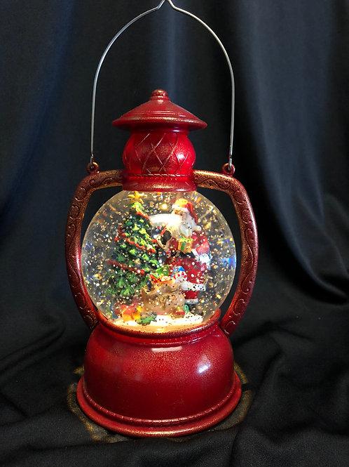 Santa Lantern Water Globe