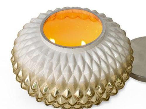 Gold Globe Lamp - Grapefruit Pine