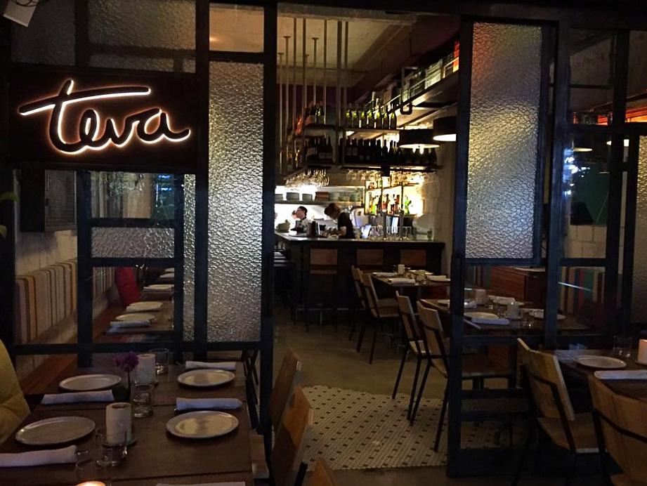 Teva em ipanema no Rio de Janeiro, bar de vegetais. Vegetariano com pegada noturna