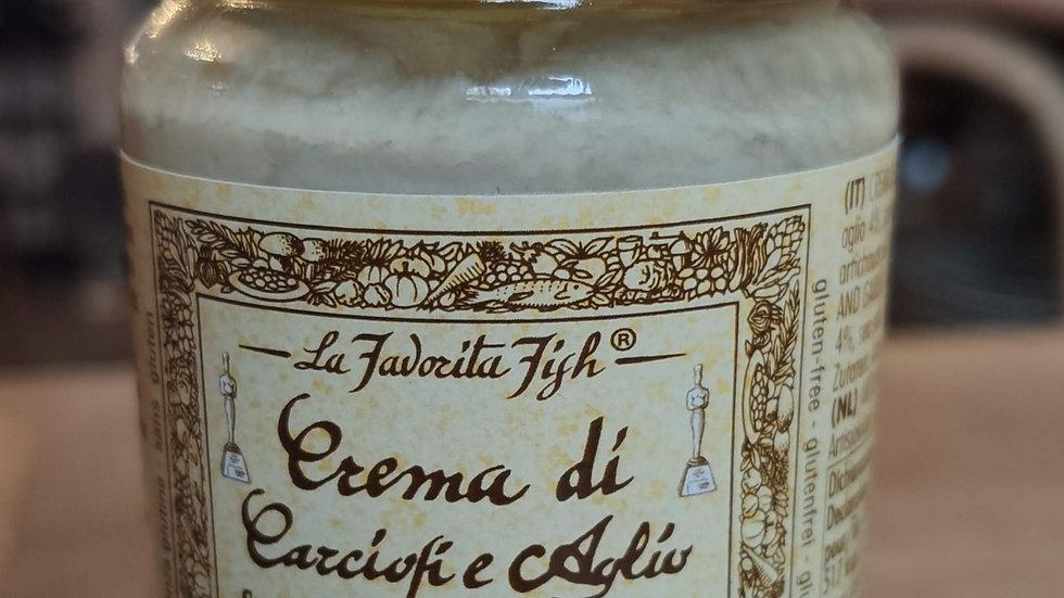 Crème d'artichauts et ail