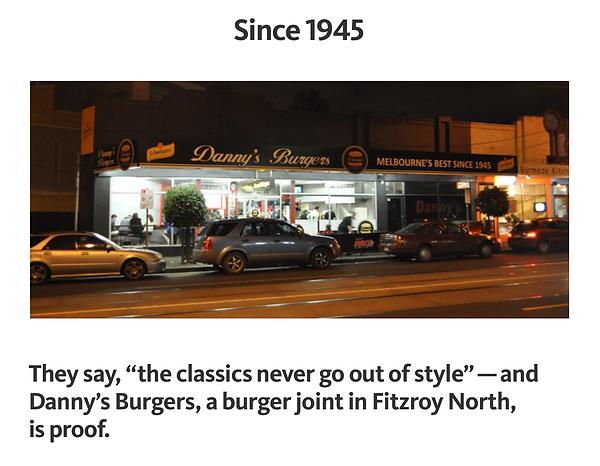 Since 1945 Dannys Burger Documentary