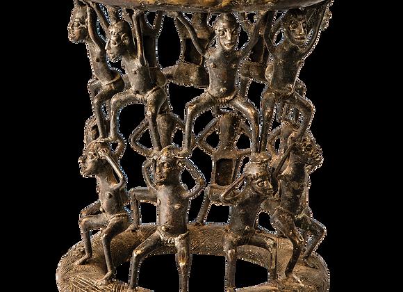 Bronze Bamoun Stool