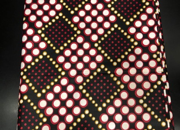 Polka Red/Black Fabric