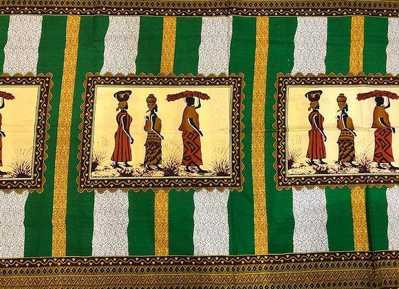 Striped Green Fabric