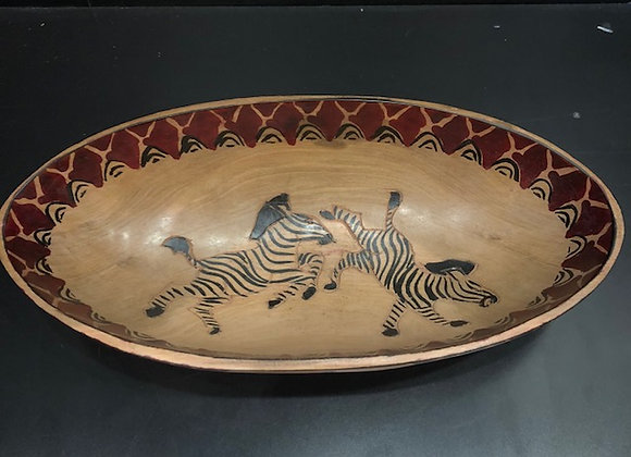 Small - Zebra Round Bowl
