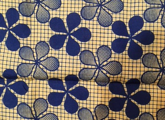 Blue Floral Pattern Head Wrap by Bebey South Africa