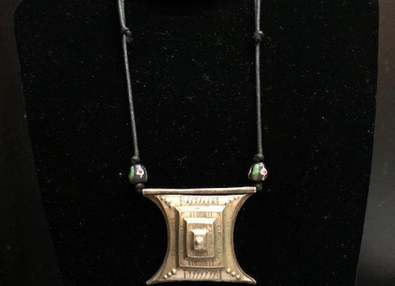 Tuareg Silver Square Necklace