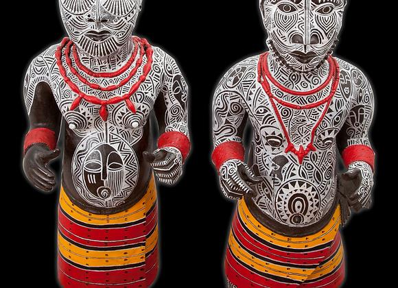 BK x Laolu NYC Benin Nain Statues